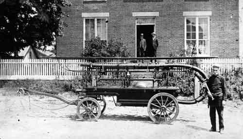Greenville's 1st Fire Engine. Photo from Smithfield Historical Society.